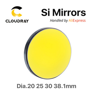 Image 2 - Si Mirror Dia. 19 20 25 30 38.1 mm Gold Plated Silicon for CO2 Laser Engraving Cutting Machine Free Shipping