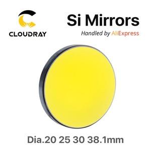 Image 2 - Si Spiegel Dia. 19 20 25 30 38.1 Mm Vergulde Silicon Voor CO2 Lasergravure Snijmachine Gratis Verzending