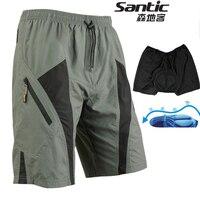 Santic Cycling Shorts 4D Gel Pad Coolmax Short Mountain Bike Shorts Men Mtb Downhill Sportswear Motocross