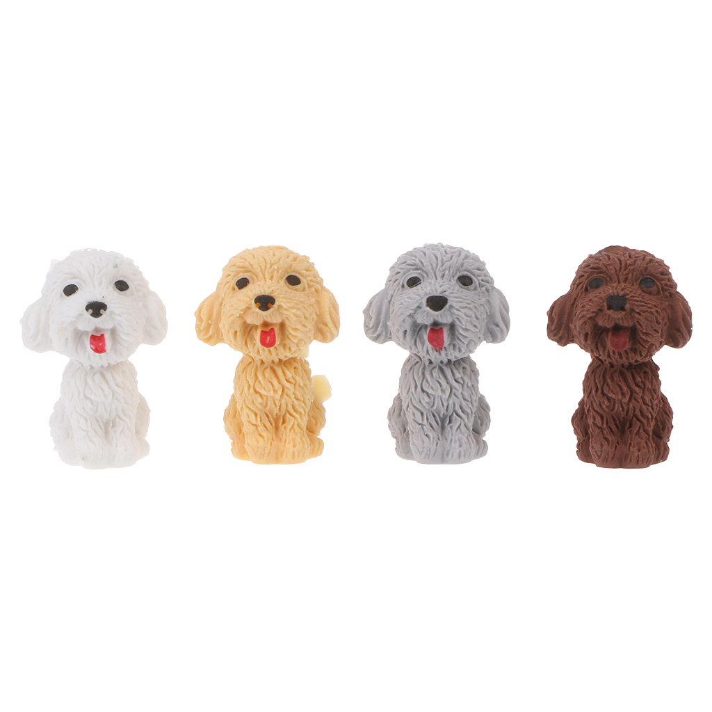 Mini 3D Cute Cartoon Dog Rubber Pencil Eraser School Student Korean Stationery Correction Supplies For Kids Gifts
