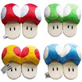 11'' 28 cm Anime Slippers Catton Game Super Mario Bros Shoes Warm Blue Red The Mushroom Soft Plush Indoor Slippers Stuffed Toy