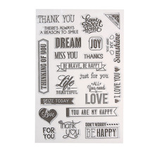 Transparent Clear Stamp DIY Silicone Seals Scrapbooking Card Making Decoration Supplies