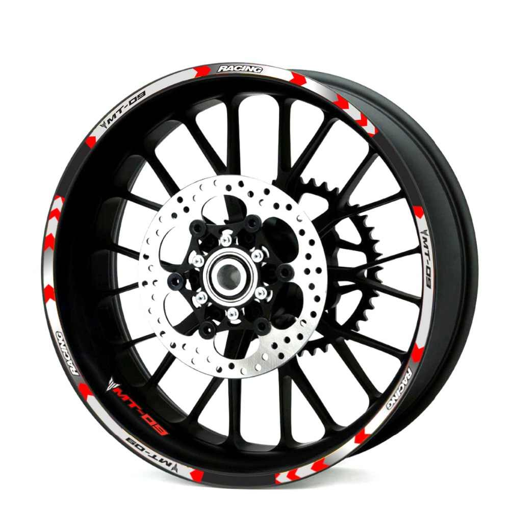 Di alta qualità 6 colori General purpose rotella del motociclo decalcomanie adesivi Riflettenti rim stripes Per YAMAHA MT-