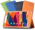 """Nueva impresión de la manera ultra de cuero magnética delgada inteligente cubierta protectora case para cubo t8 flagship 8 """"tablet case"""