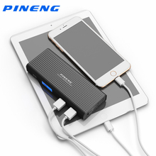Pineng Запасные Аккумуляторы для телефонов 10000 мАч для Xiaomi двойной Порты USB ЖК-дисплей Дисплей быстрой зарядки Портативный Мощность банка для iPhone Huawei телефон Планшеты