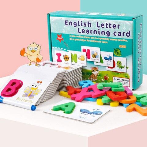 criancas alfabeto carta aprendizagem cartoes conjunto 26 letras ingles cartao de ortografia bebe pre escolar