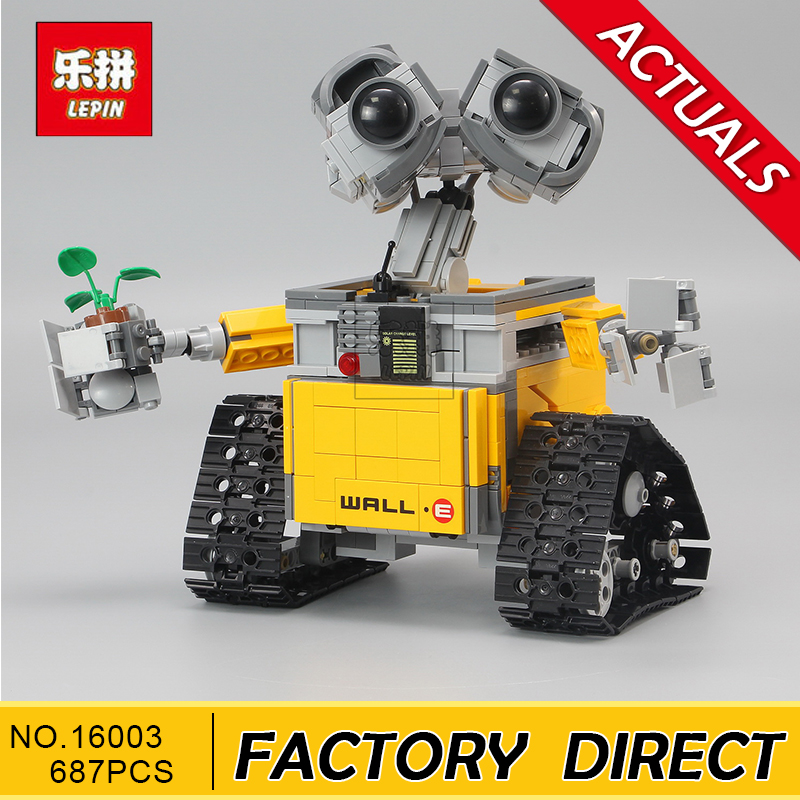 Lepin 16003 687pcs dea Robot WALL E Building Set Kits Blocks Bringuedos Bricks Cute For Children Gifts With 21303 Model Toys встраиваемая акустика sonance cinema lcr1