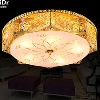 European Style Living Room Bedroom Crystal Lamp Crystal Lamp Golden Romantic LED Crystal Light Ceiling Lights