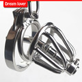 New small male chastity cage metal Cock Ring , Stainless Steel Chastity Cage with Urethral Insert