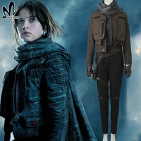 Jyn Erso Costume Rogue One A Star Wars Story Clothing Halloween Cosplay Costume Adult Women Outfit