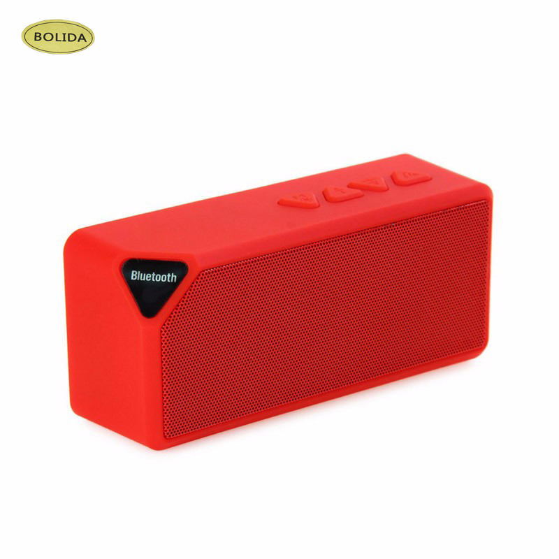Mini Bluetooth Speaker X3 TF USB FM Radio Wireless Portable Music Sound Box Subwoofer Loudspeakers With Mic For Phone PC