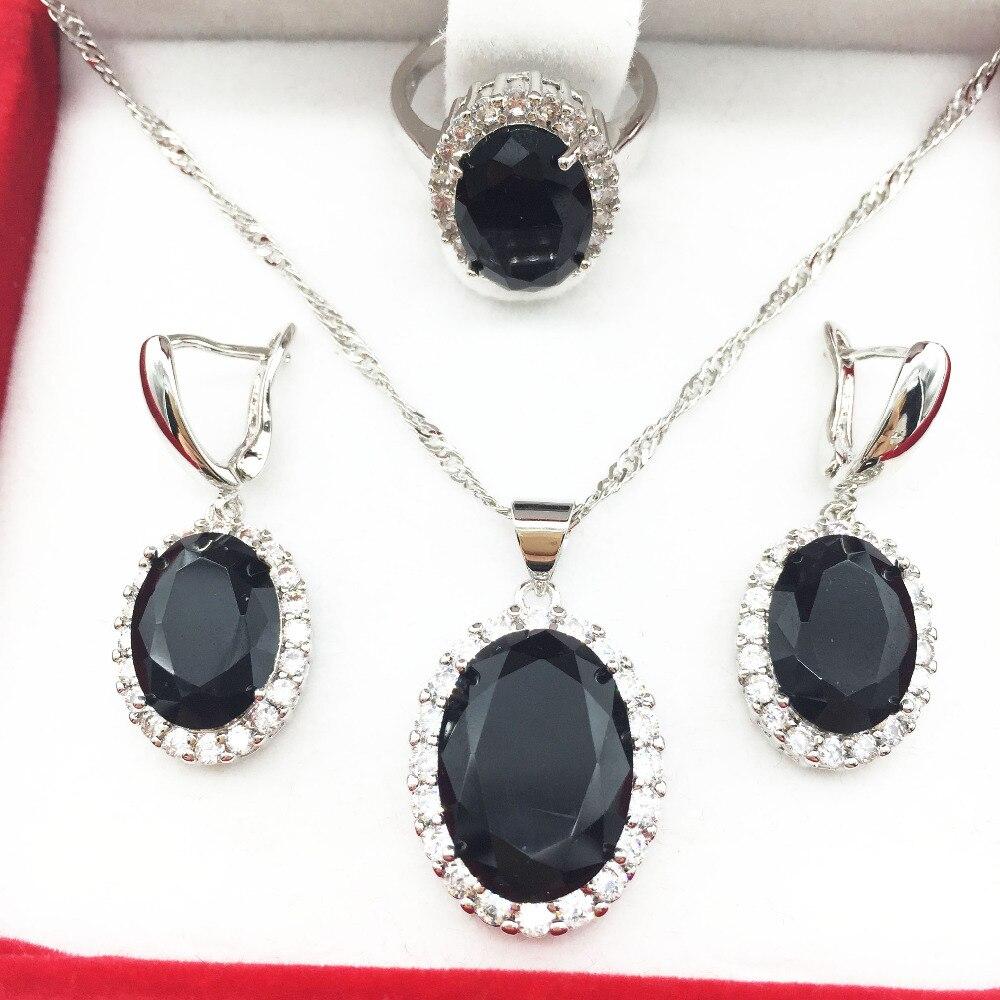 2016 nova granada 925 prata para mulheres brincos / colar / pingente anel tamanho 6 7 8 9 frete grátis