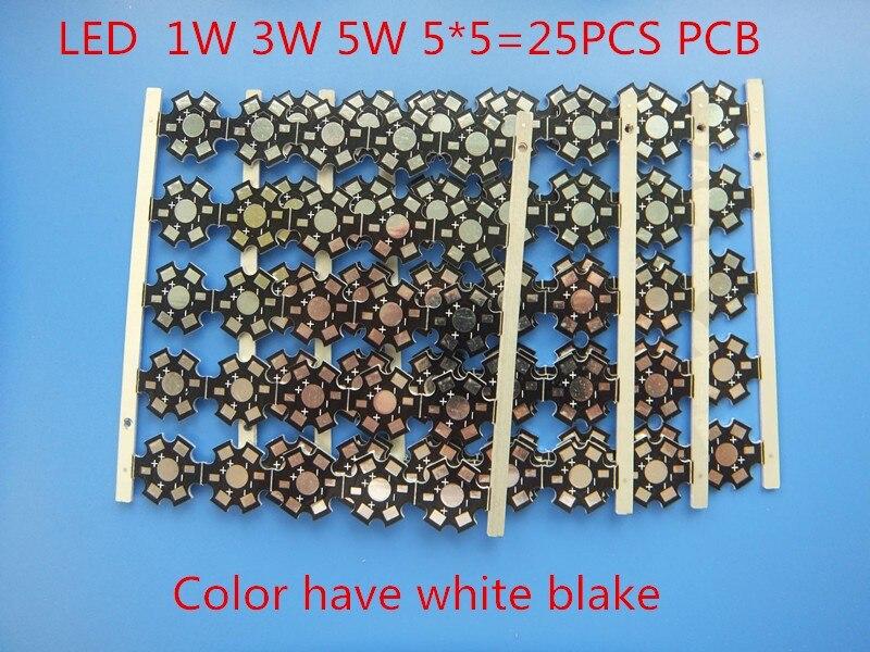 25pcs 1W 3W 5W Heat Sink LED Aluminum Base Plate PCB Board Substrate 20mm Star Kit DIY Cooling Heatsink 20 Mm For 1 3 5 W Watt