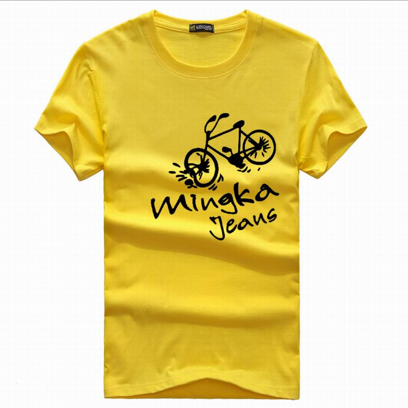cotton t shirt men Print Bicycle man's T-shirt 3d 2017 korea brand clothing t shirt homme 5