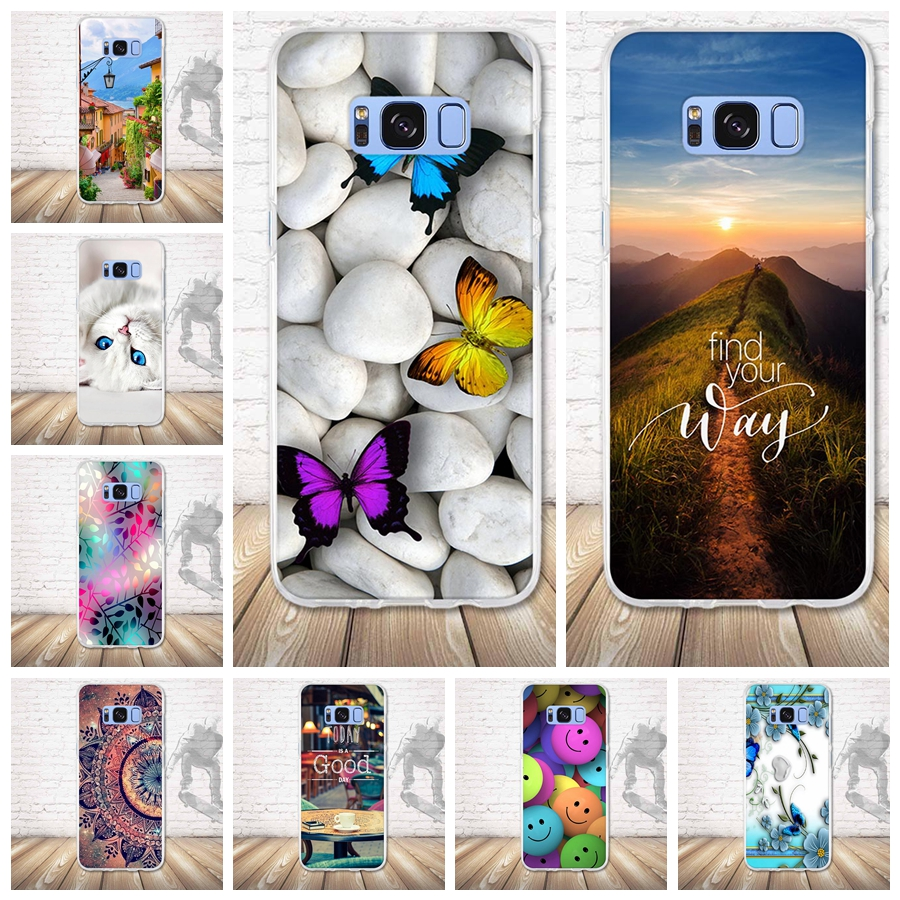 Cover Case For Samsung Galaxy S8 Coque cover Soft Silicone TPU Back Case For Funda galxy s8 G950 <font><b>G950F</b></font> G9500 <font><b>SM</b></font>-G9500 Capa 5.8