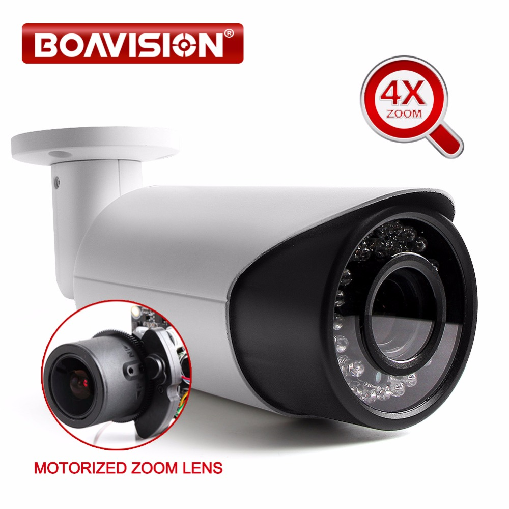Security Network HD 960P 1080P 4MP 5MP Bullet IP Camera Waterproof Outdoor Auto Iris Motorized Lens IR 30m P2P View CCTV Camera