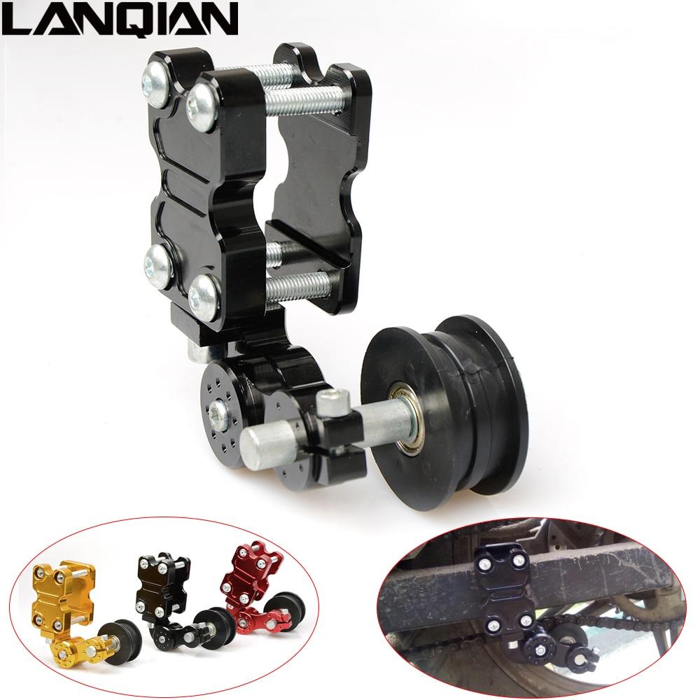 Universal Aluminum Adjuster Chain Tensioner Roller For Motorcycle Chopper ATV Dirt Bike Black Red Gold