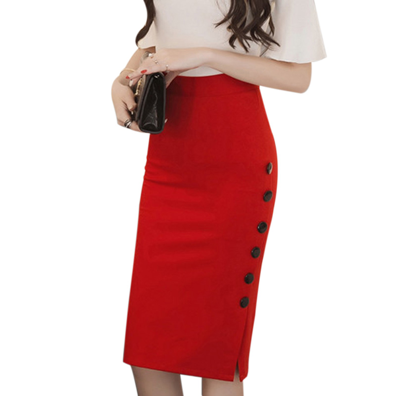 fashion autumn 2017 new skirt plus size high waist