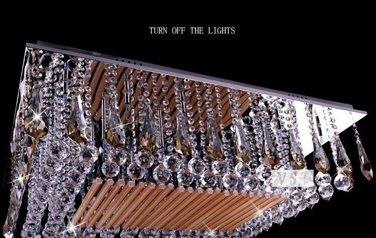 Plafoniere In Cristallo Di Boemia : Trasporto libero di cristallo lusso europa rettangolare condotto