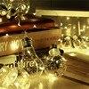 Clear Globe Ball 10 LED String Light Bulbs Christmas Indoor Outdoor Holiday Light Fairy Lamp Hallowmas