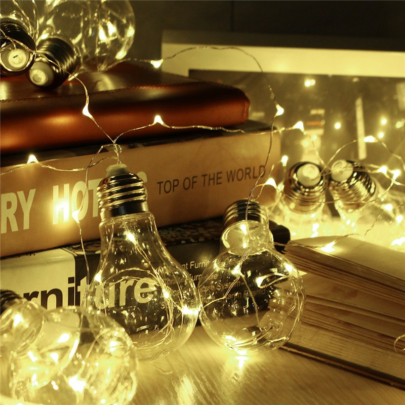 Clear Globe Ball 10 LED String Light Bulbs Christmas Indoor Outdoor Holiday Light Fairy Lamp Hallowmas Decoration AC100V-240V 4 glass small clear ball paraffin oil lamp indoor outdoor