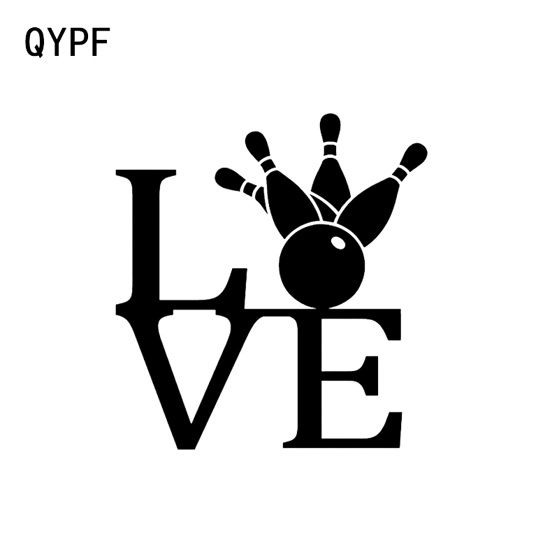 Automobiles & Motorcycles Exterior Accessories Qypf 13.1*14.1cm Interesting Bowling Decor Car Stickers Accessories Vinyl Black/silver C16-1296