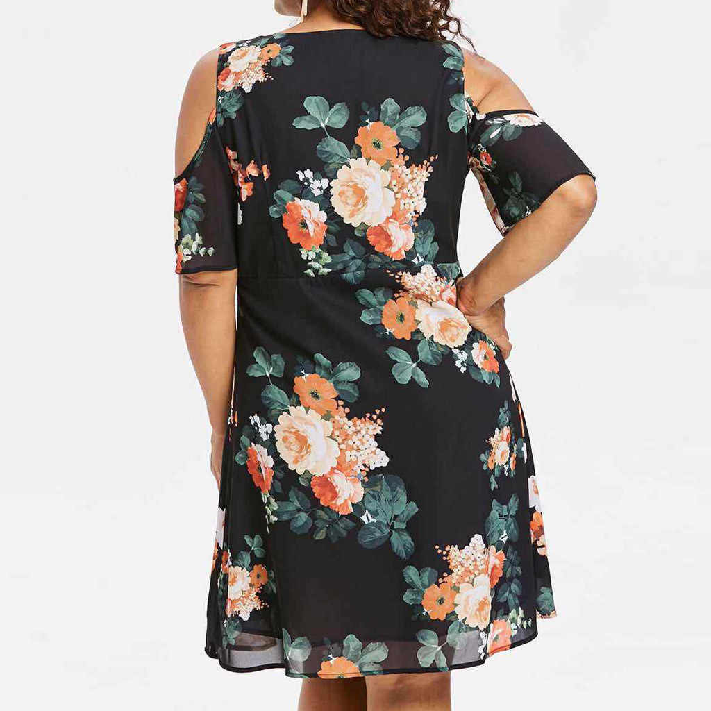 Сексуальное женское платье с глубоким v-образным вырезом и открытыми плечами, мини-платья с цветочным принтом, шифоновое платье с высокой талией, сарафан со шнуровкой