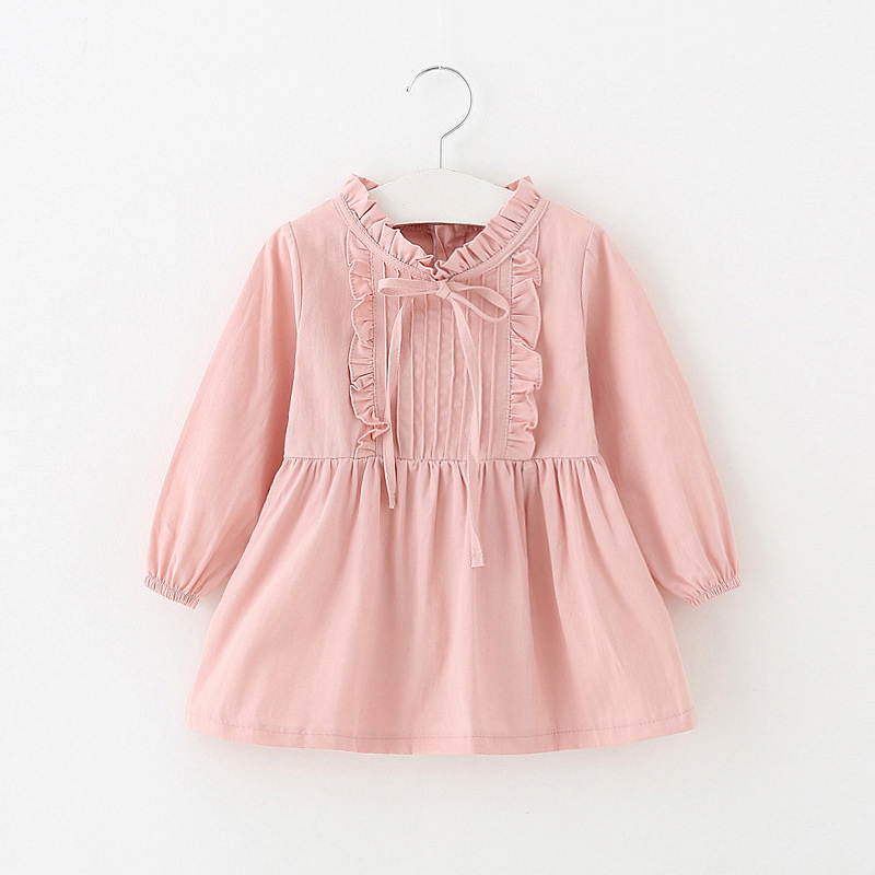 Baby dress girls cotton costumes long sleeve infant toddler girls clothing casual ball gown kids spring girls princess dress leisure long sleeve cotton casual dress
