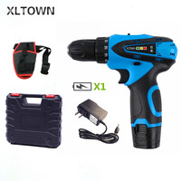 Xltown New 12V household Positive and Negative Adjust Rechargeable Dual speed Lithium Battery Mini Electric Screwdriver