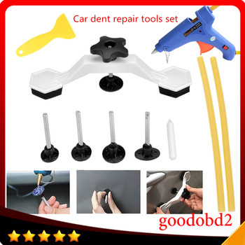 PDR Dent Repair Hand Tools Set Kit Plastic Bridge Pulling Dent Remover For Car Body Paintless Dent Repair Tool with Glue Gun auto body tools dent puller kit spotter stud welder spot welding gun washer chuck holder car bodywork dent repair automotive
