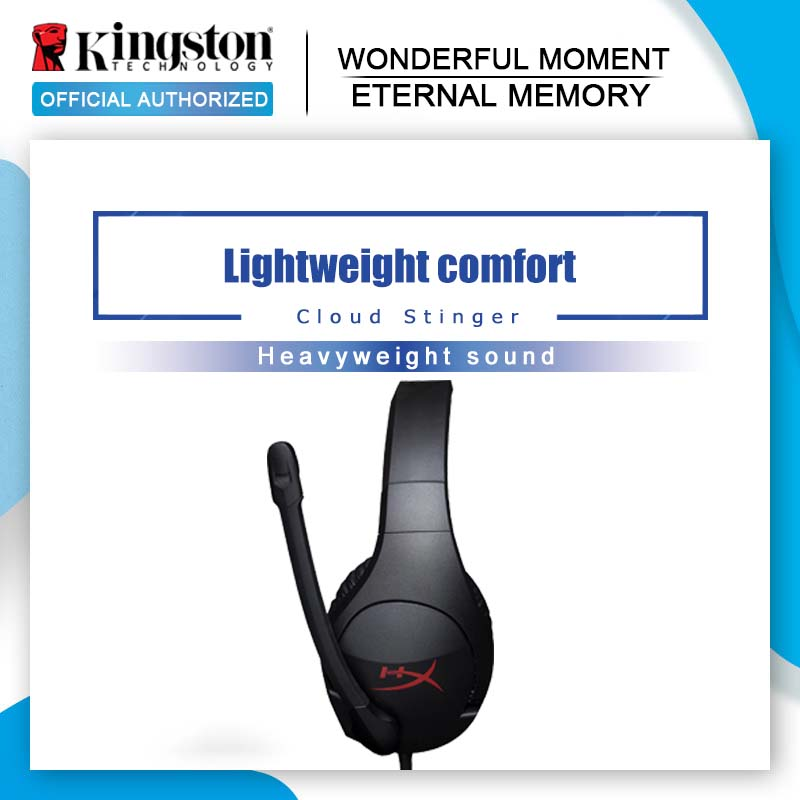 Original Kingston HyperX Cloud Stinger Gaming Headset Headphones With a microphone Microphone Mic For PC-in Headphone/Headset from Consumer Electronics    1