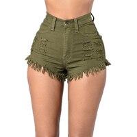 Women's Plus Size Short Stretch Denim Jeans Lady Juniors Denim High Waist Shorts