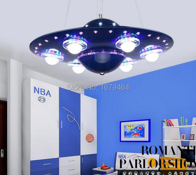 Pendant lamp LED UFO Cartoon Children bedroom boys pendant lamp LED ...