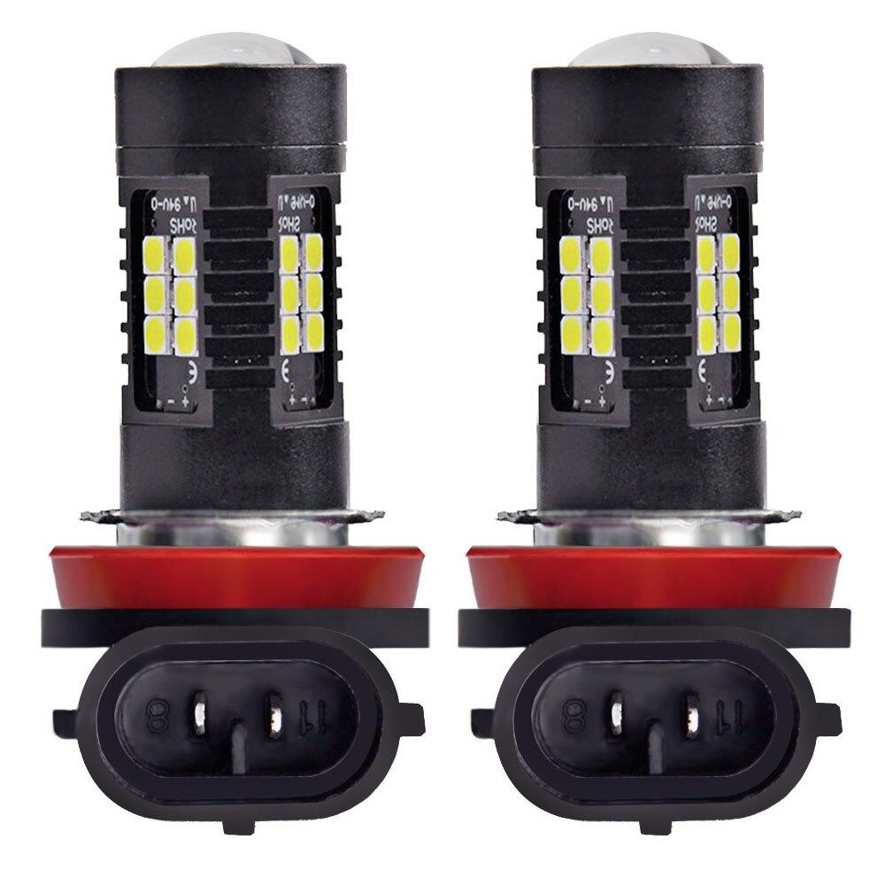 2PCS H11 LED Fog Light H8 3030 SMD 1200LM 6000K White Car Lamp Led 12v For Auto Driving Car Driving Lamp Replace Bulbs