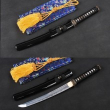 Japanese Vintage Samurai Sword Full Tang Flexible Folded Steel Unokubitsukuri Blade Shape Handmade Tanto Sharp Edge Knife