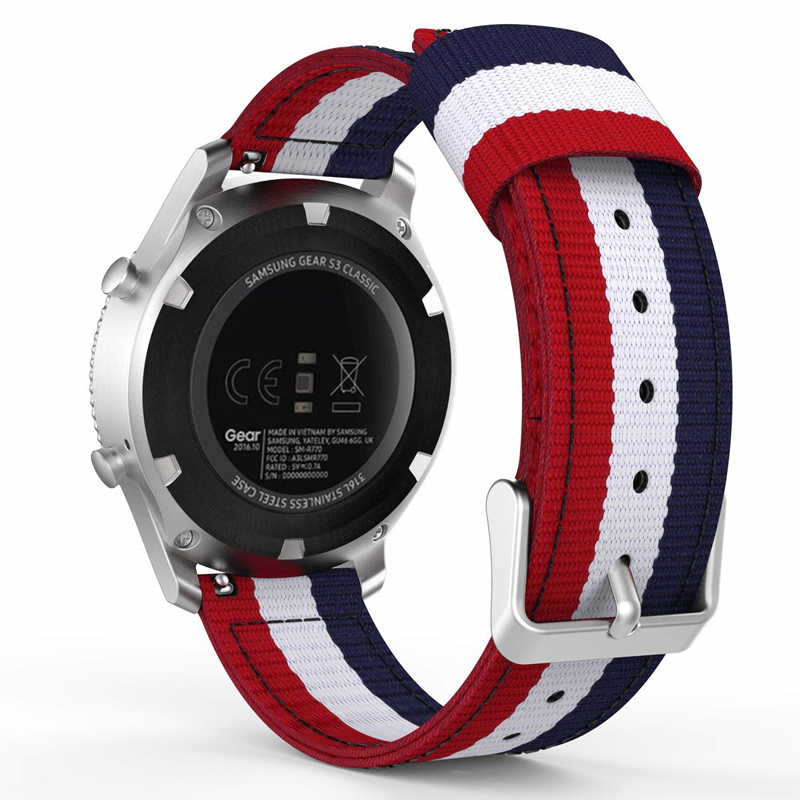 Bands For Galaxy Watch 46mm/Gear S3 Nylon 22mm Band Adjustable Replacement Sport Strap For Samsung Gear S3 Classic Frontier