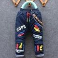 2016 зима прибытие новый пункт мальчик и девочка толстые джинсы брюки милый ребенок джинсовые брюки 1-4 лет многие конструкции