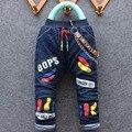 2016 chegada novo item de menino e menina de inverno grossa calça jeans garoto bonito denim pant 1-4 anos muitas projetos