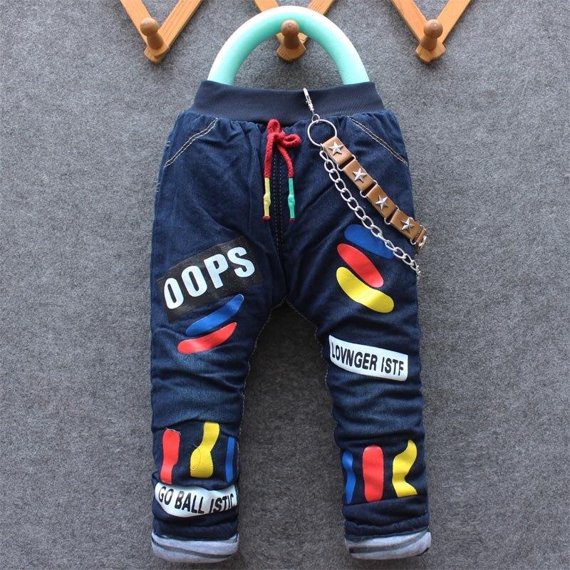 2016 Winter Ankunft Neue Artikel Jungen Und Mädchen Dicke Jeans Pant Nette Denim Hose 1-4 Jahren Viele Designs Moderater Preis