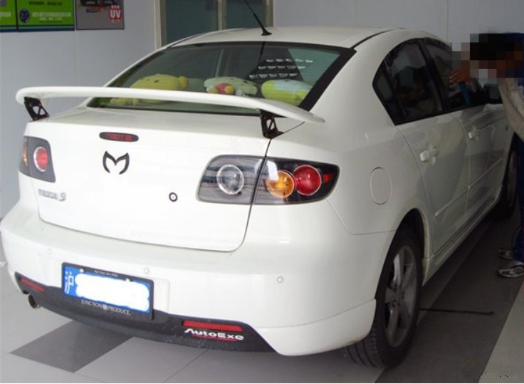 Auto Spoiler For Mazda 3 2003.2004.2005.2006.2007.2008.2009 High quality ABS Rear Wing Spoilers Car Accessories цена 2017