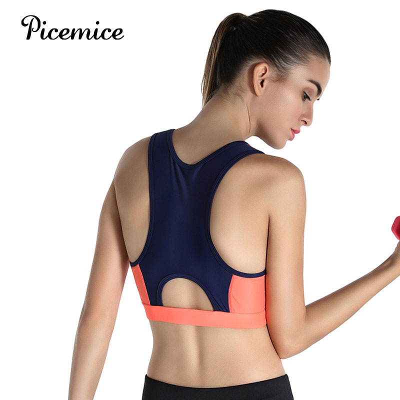 Picemice Factory Direct Women Sport Bra Shockproof No Bounce Quick dry High Performance Top Yoga Running High Strength Nylon Bra in Sports Bras from Sports Entertainment