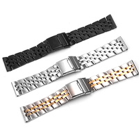 Stainless Steel Watchband for Breitling CHRONOMAT Watchband 22mm 24mm Watchstrap Bracelet Wrist Silver Watch Replacement+Tool