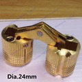 Dia.24mm Brass cylindrical hinge hidden furniture hinge invisible installation hinge