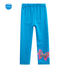 JUXINSU Girls Leggings Cotton Butterfly Long Spring Summer Pants for 1-6 Years