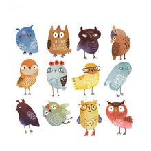 Cute Owl Patches For Clothes T-shirt Dresses DIY Accessory Decoration Patch A-level Washable Patches Heat Transfer