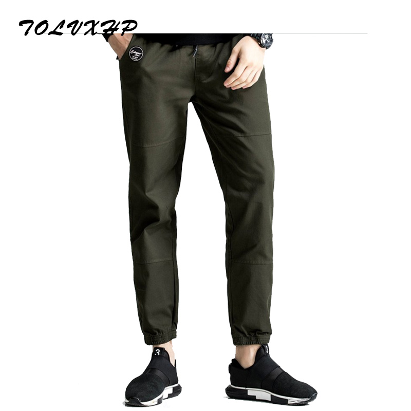 New Arrived 2018 Brand Casual Joggers Loosen The Waist Compression Pants Men Cotton Trousers Calabasas Cargo Pants Mens Leggings