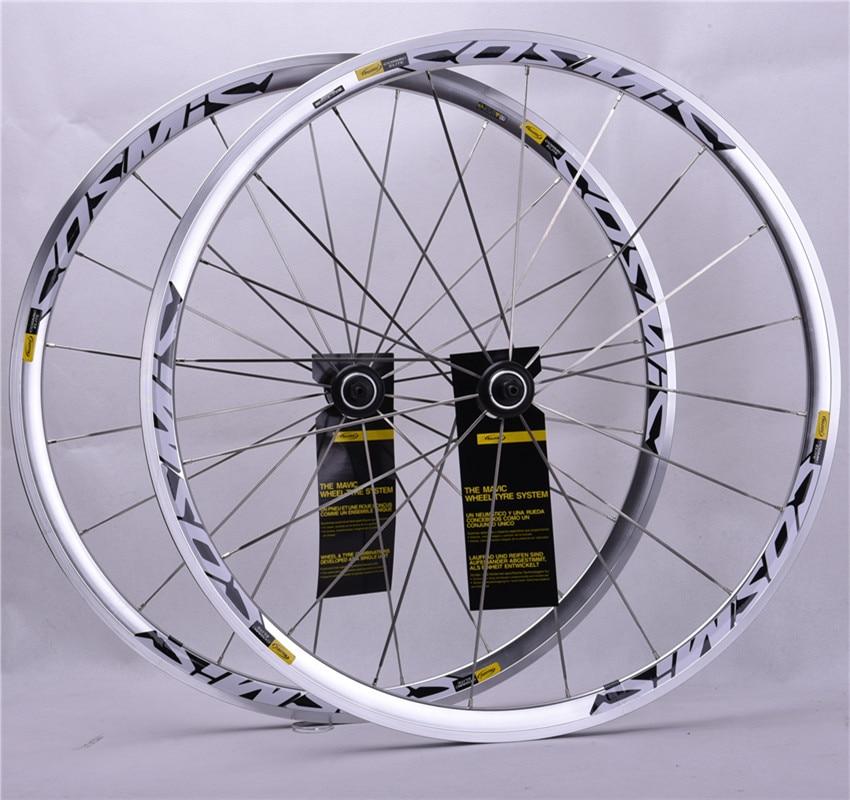 2018 Hot Sale High Quality 700C Alloy V Brake Wheels BMX Road Bicycle Aluminum Road Bicycle Wheelset  Cosmic