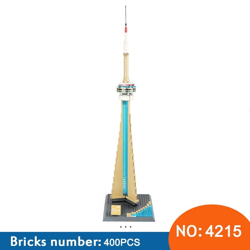 New Architecture Canada National Tower 400 Pcs Building Blocks Sets City Bricks