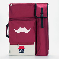 Mustache Cute Art Bag For Drawing Tools Waterproof Large Art Supplies Bag Painting Sketch Bag Backpack For Artist 50*65CM