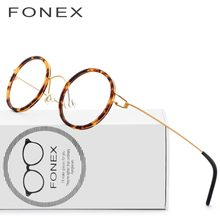 cd9222ddf3 Titanium Glasses Frame Men Women Acetate Myopia Optical Denmark Ultralight  Prescription Eyeglasses 2018 Korean Screwless Eyewear